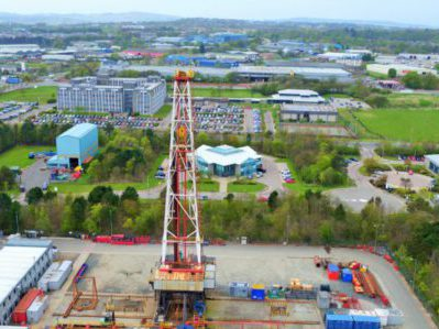 <b>Aerial inspection of the Oil Rig in Weatherfords Evaluation Centre</b>